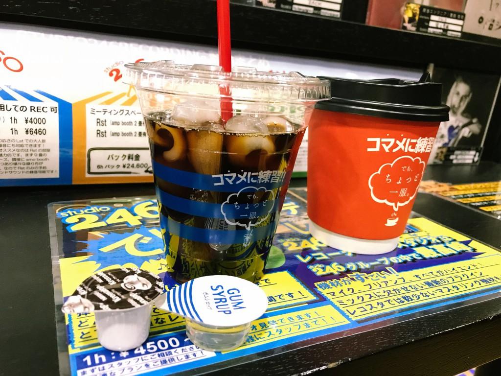 ホットコーヒー、アイスコーヒーどっちもあります。大人気。